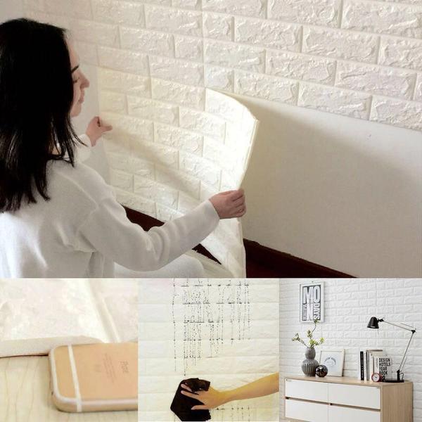 New 3d Foam Stone Brick Self Adhesive Wall Panels Decorex